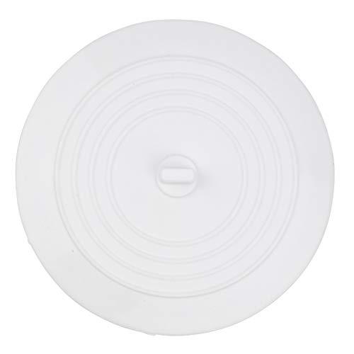 Stöpsel Spülbecken, Ø 15 cm, Weiss, aus Silikon, für alle Abflüsse bis 120 mm, perfekt für Küche und Bad, Ablaufstöpsel weiß, Abflussstopfen Spülbecken, Ablaufstopfen Küche, Abflussstöpsel Waschtisch