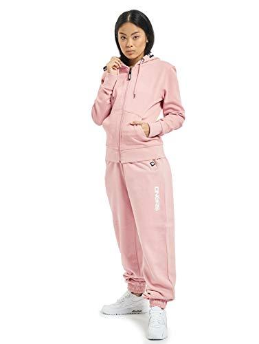 EGOMAXX DNGRS Damen Jogging Hose Sweat Suit Set Freizeit Anzug Kombi, Farben:Rosa, Größe:42 / XL