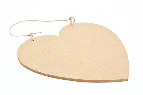 greehome Welkom deurbordje hart van hout om zelf vorm te geven graveren naamplaatje DIY houten schijf (Brown)