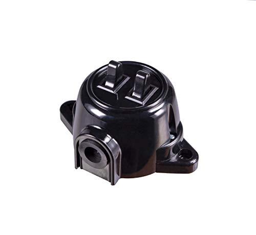 Aufputz Vintage Steckdose Lichtschalter Rund Retro Schalter Wechselschalter Serienschalter (Serien Schalter Schwarz)