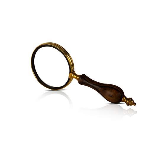 Collectors Antiek Handheld Vergrootglas Lens Vergrootglas met Handvat & Echt Glas Beste voor Dicht Werk & Lezen Kleine Prints Boeken Kranten Kruiswoordraadsel Puzzel voor Mannen Vrouwen Senioren