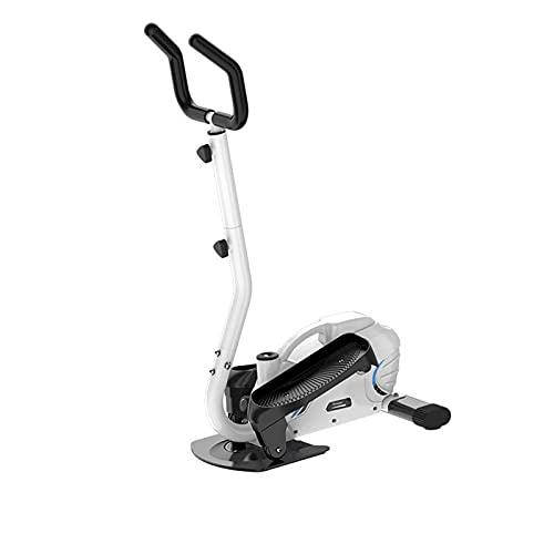 HXXXIN Máquina Elíptica Equipo De Fitness para El Hogar Pequeño Interior Silencioso Mini Paso A Paso Espacio para Correr Máquina para Caminar Ejercicio Y Fitness,Blanco