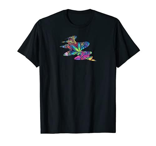 Marihuana pintura arte marihuana marihuana marihuana divertido novedad hoja nueva Camiseta