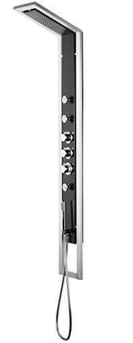 Deante NQI_351T Jaguar INDUSTRIO - Panel de ducha, color negro y plateado