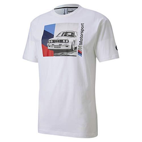 PUMA BMW M Motorsport Graphic - Camiseta para hombre (talla XXL), color blanco