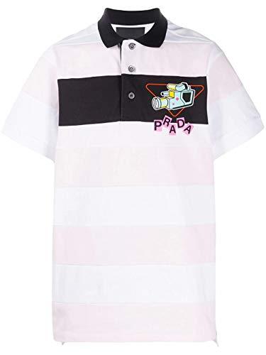 Prada Luxury Fashion Herren UJN640S2011WB8F0AY1 Rosa Baumwolle Poloshirt | Frühling Sommer 20