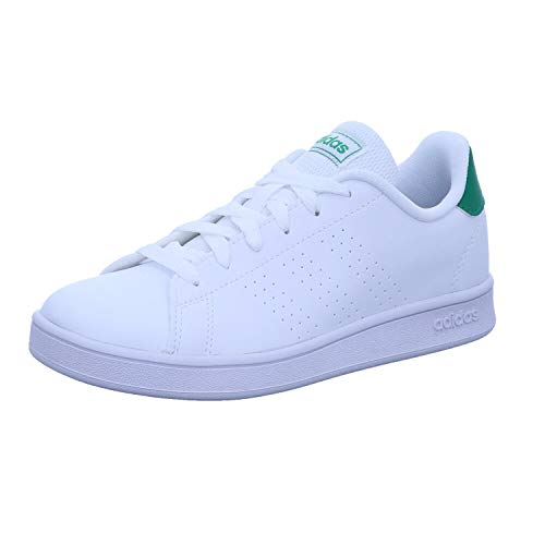 Adidas Advantage K, Zapatos De Tenis Unisex Niños, FTWR White/Green/Grey Two F17, 38 2/3 EU