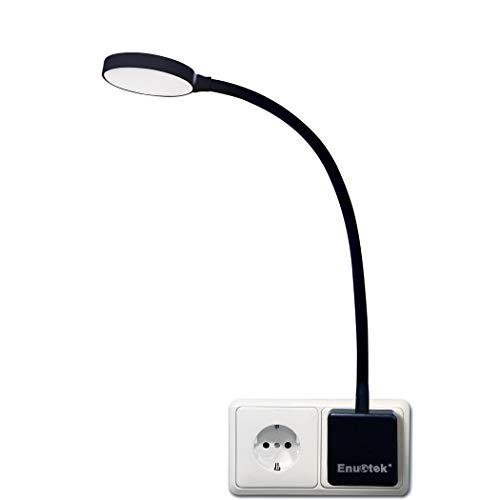 Lampara de Noche Luz Nocturna de Pared LED Regulable Flexible con Enchufe y Interruptor Tactil 4W...
