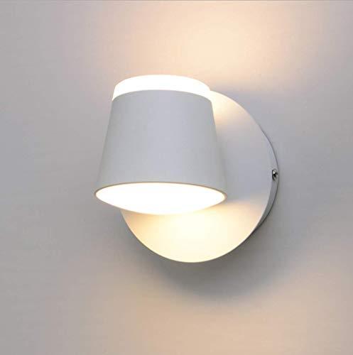 Moderno Minimalista Blanco Apliques de pared Dentro Hierro Aluminio lámpara de pared Creativo Cuarto Lámpara de noche Encendiendo Sala Bañera sala Escalera Focos de pared Luz cálida 3000K LED 8W