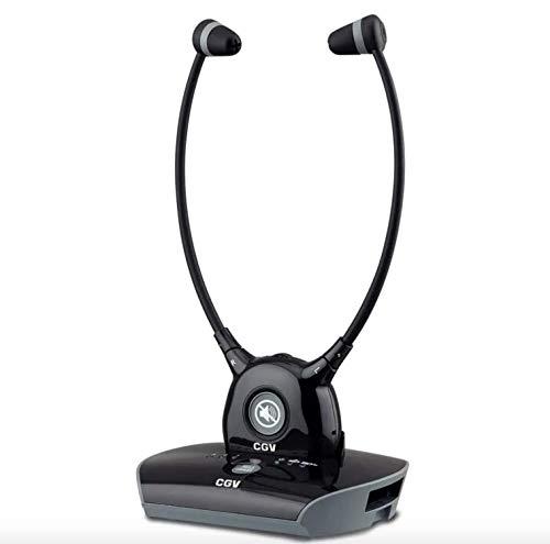 CGV Hel Dolfin - Auriculares inalámbricos para TV, color negro