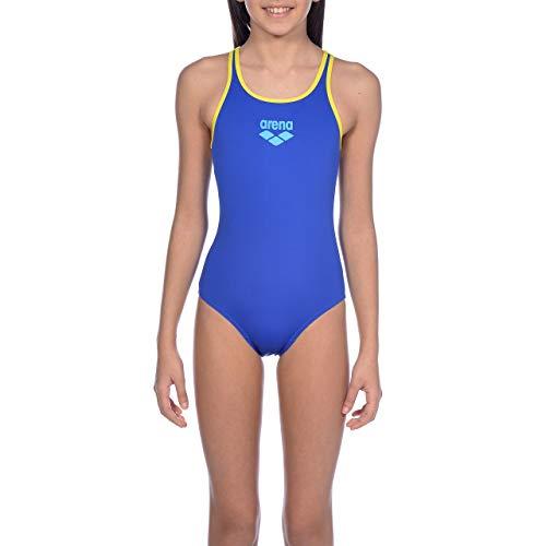 ARENA Mädchen Badeanzug G Jr Swim Pro Back One M M Neonblau, gelber Stern.