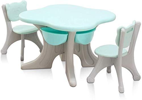 Lage tafel Activiteit Tafel Kind tafel en stoel for peuter speeltafel/Baby Activity Table (Kleur: Groen, Maat: 70x70 / 50x32cm) (Color : Green, Size : 70x70/50x32cm)