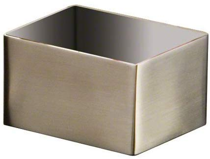 American Metalcraft SSPH4 Stainless Steel Rectangular Sugar Packet Holder, 2.75' L x 3.25' W, Satin Finish - Pack of 2