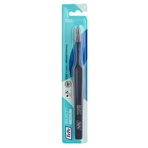 TePe Select Medium Zahnbürste / Mittelstarke Borsten und ein schmal zulaufender Bürstenkopf - für eine gründlichere Reinigung