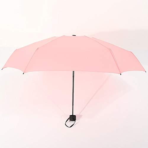 MAWA Mini Paraguas De Bolsillo para Mujer UV Paraguas Pequeños 180g Lluvia Mujer Impermeable para Hombre Parasol para El Sol Práctico Viaje para Niñas Parapluie Kid - Rosa, a1