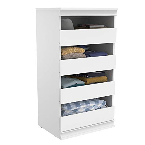 ClosetMaid 4561 Modular Closet Storage Stackable Unit with 4-Drawers- White