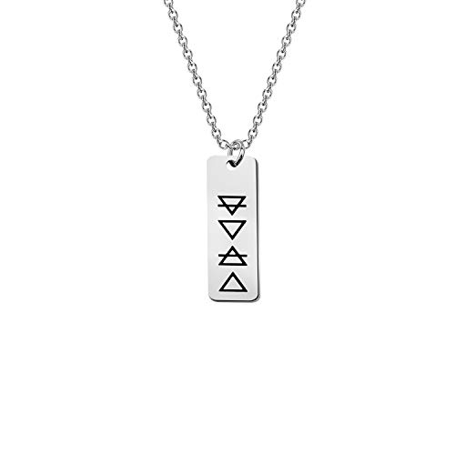 CHOORO Element Symbols Planetary Fire Earth Water Air Symbols Alchemical Necklace Alchemy Jewelry Transmutation Signs Occult Alchemy (Symbols necklace)