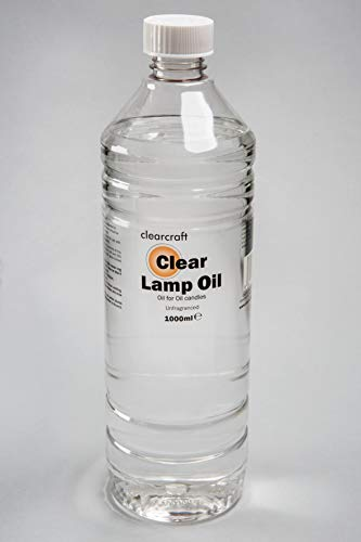 CLEARCRAFT SMOKELESS AND ODOURLESS CLEAR LAMP OIL - 1 LITRE with FREE FUNNEL