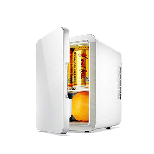 DEALBUHK Portátil 4L Mini refrigerador 12V / 220V Coche Dual del hogar Calefacción y refrigeración Frigorífico Mini Puede usarse Durante Mucho Tiempo (Color : White)