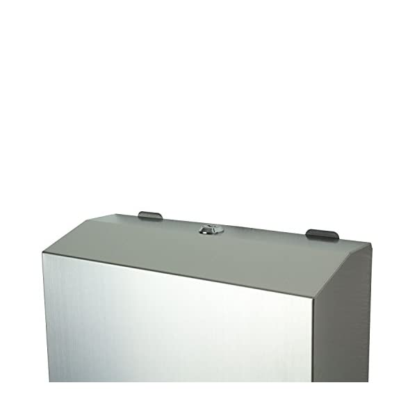 Dispensador de papel de Mosa de acero inoxidable, dispensador de toallas,