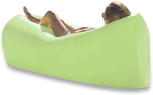 RTOFO Tumbona Inflable Impermeable Explotar Sofá, Impermeable Anti-Fugas Portátil para Acampar Senderismo Picnictraveling Cómodo Sillas De Playa para Adultos Hamaca Verde