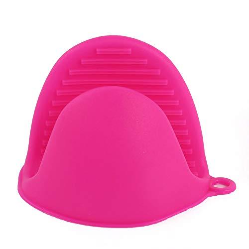 Guantes anti-escaldaduras de silicona soporte de plato bandeja de aislamiento de cocina plato cuenco horno para hornear con clip de mano