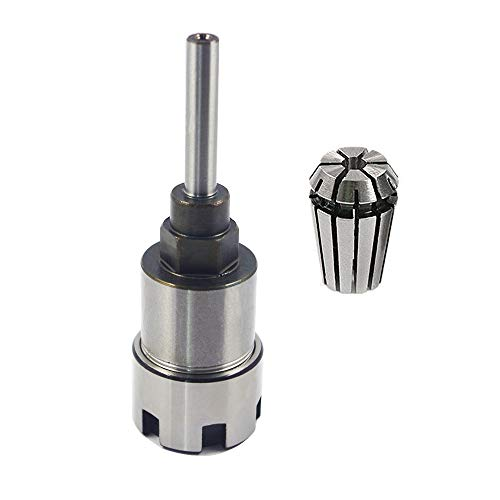 Eyech Heavy Duty 1/4 Inch Shank Router Collet Extension Rod Chuck Holder Extender Adapter Woodworking Milling Bit for 1/4 Inch Shank Drill Bit with 6.35mm Chuck