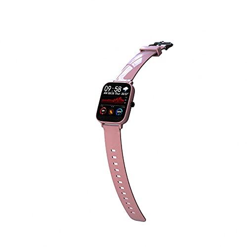 Reloj Inteligente Mujer Hombre,Reloj inteligente a prueba de agua deportivo, pulsera de monitoreo de presión arterial con frecuencia cardíaca-Rosa,Pulsera de Actividad Inteligente Reloj Deportivo