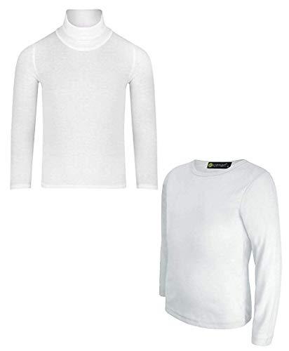 LOTMART Kids Coltrui Top en Ronde hals T-Shirt Bundel (Pack van 2)