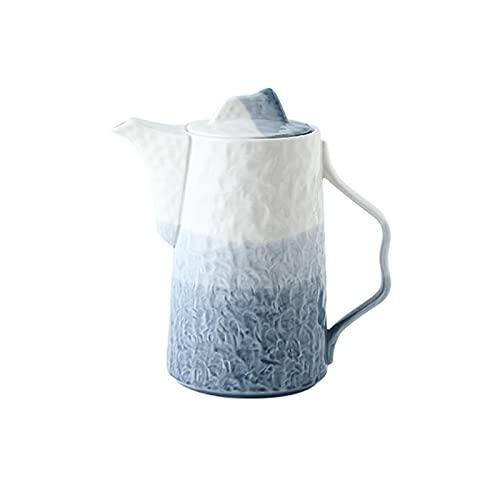 Jarra de agua jarra de cerámica de color degradado, jarra de gran capacidad, jarra fría multiusos para leche, jugo, café, bebidas caseras (45 onzas) jarra de té helado