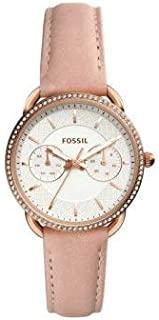 Fossil Womens Quartz Watch, Analog Display and Leather Strap ES4393