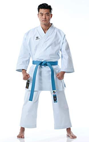 Tokaido Kata Master Pro - Traje de kárate unisex para adultos, color blanco, 185 (5,5)