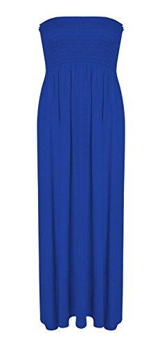 Fashion 4 Less Damen Kleid Blau kobaltblau 54