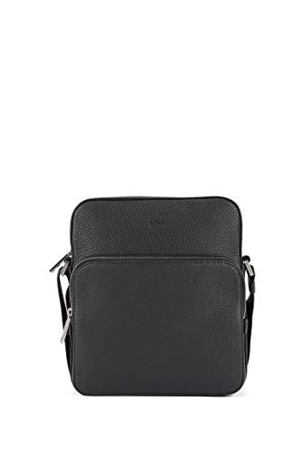 BOSS Herren Crosstown NS pocket Reporter-Tasche aus genarbtem italienischem Leder Größe One Size