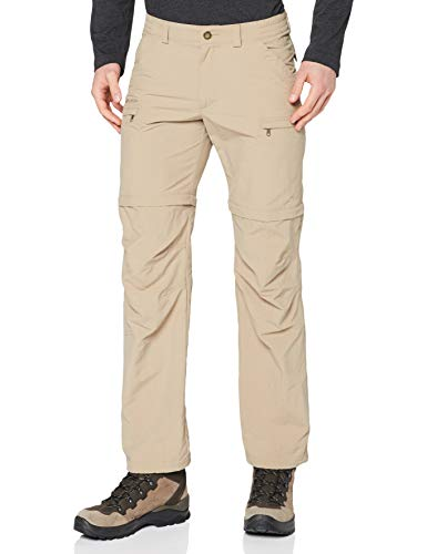 Vaude Farley Zip Off IV Pantalon Homme - muddy - FR:XS (Taille Fabricant : 46 Short )