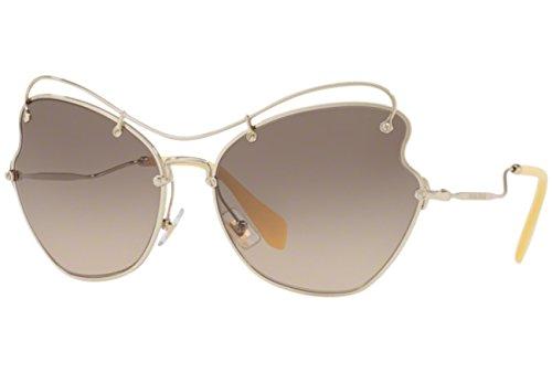 Miu Miu MU56RS ZVN3D0 Pale Gold MU56RS Oval Sunglasses Lens Category 3 Size 61m