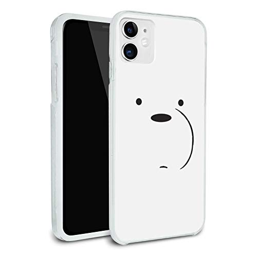 We Bare Bears Ice Bear Protective Slim Fit Hybrid Rubber Bumper Case Fits Apple iPhone 8, 8 Plus, X, 11, 11 Pro,11 Pro Max