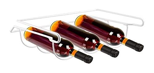 HJHQQ-CZYHG Titular de la Botella práctica para el refrigerador - Estante de Vino apilable para 3 Botellas - Almacenamiento Ideal de Bebidas para el diseño del refrigerador-Ahorro de Espacio