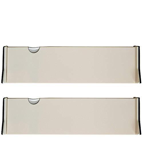 Kurtzy Separadores Ajustables de Cajones - Juego de 2 Expansibles Organizadores para Cajones Divisores de Cajón en Plástico para Cocinas, Dormitorios, Baño, Habitación y Oficina (Big- 36.5 cm)