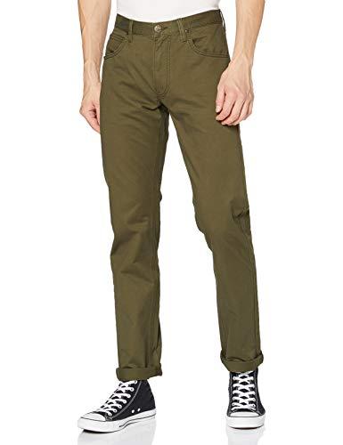 Lee Herren Daren Zip Fly Jeans, Olive Green, 33W / 34L
