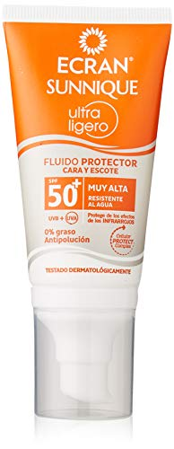 Ecran Sun Ultraligero, Protector Solar para Cara y Escote con SPF50+ - 50 ml