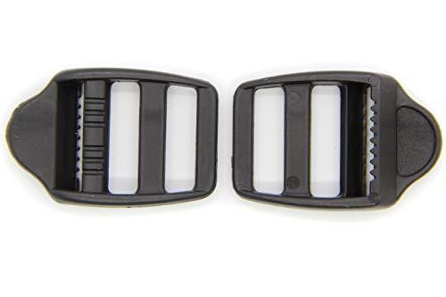 NTS Nähtechnik Klemm-Leiterschnallen Seitenschnalle Stegschnalle Gurtschnalle Rucksackschnalle Tragegurt (10 Schnallen, 20mm)