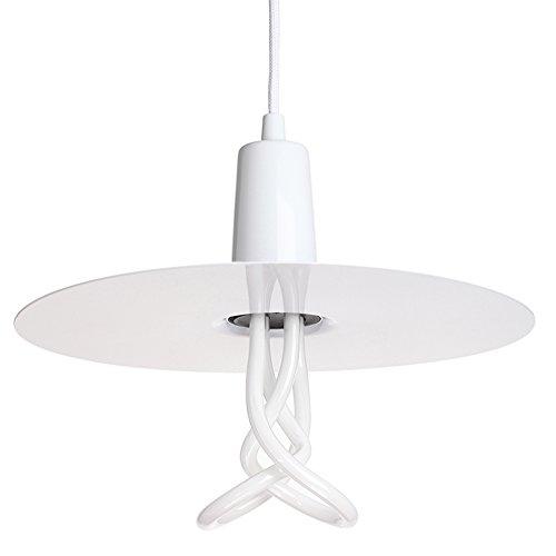 Plumen 1011012201 Set Abat-Jour Drop Hat Blanc+ Suspension Original 001 E27, Métal, 11 W