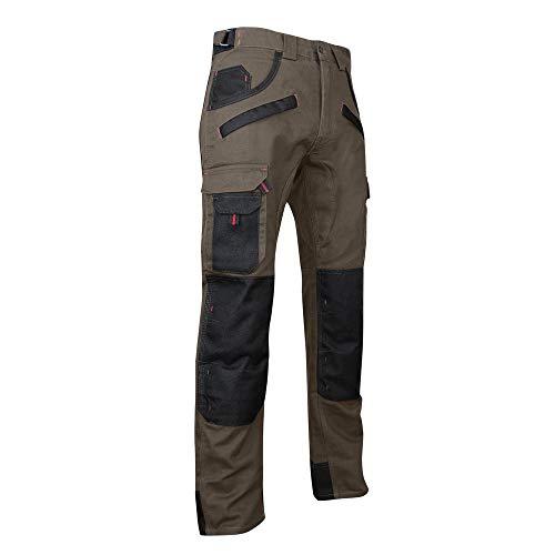 LMA Pantalon Bicolore avec Poches genouillères Tourbe