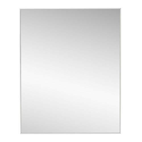 Espejo de Pared de plástico LOLAhome (41 x 3 x 51 cm, Blanco)