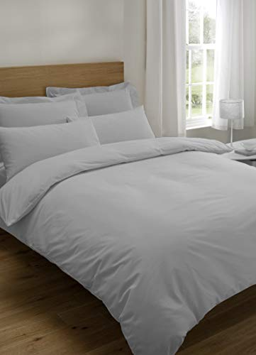 Early's of Witney 200 Thread Count Combed Cotton Single Duvet Set In Grey