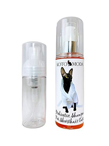 Kotomoda Probiotisches Shampoo für Kurzhaarkatzen 120 ml mit Schaumpumpe