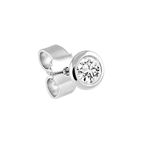 Diamond Line Diamond Line Damen-Single-Diamant-Ohrstecker 585 1 Diamant ca. 0,05ct. weiß Piqué (W-PI)