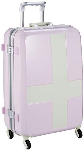 [イノベーター] スーツケース グッドサイズ カードロック ベーシックモデル INV58T 保証付 60L 58 cm 4kg ピンク/アイボリー