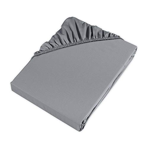 Möve Spannbettlaken, Grey, 200 x 200 x 30 cm